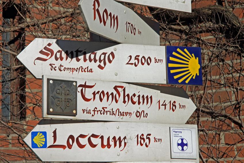 Pilgerwege; pilgern; Europa; wandern; zu Fuss unterwegs