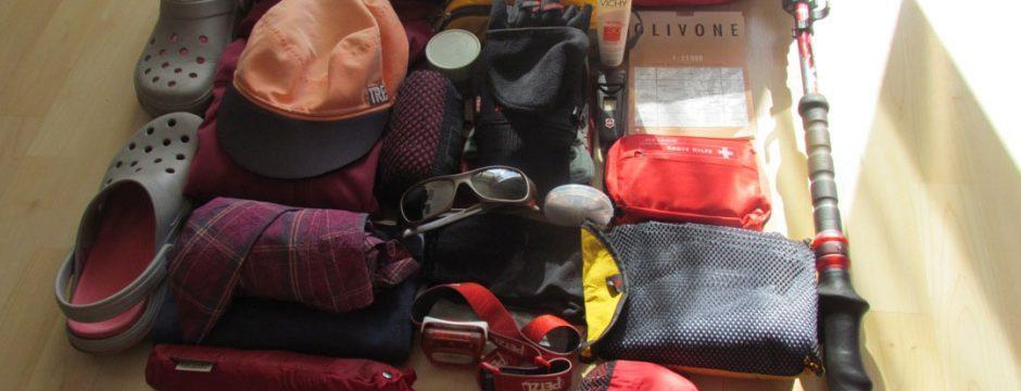 Packliste für eine Bergwanderung - zusammengestellt aus 20 Jahren wandern in den Alpen
